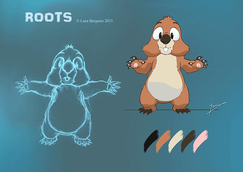 Roots, Personaggio, Character design 1