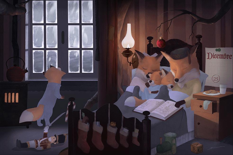 Illustrazione per l'infanzia di Natale 2019 _by Luke